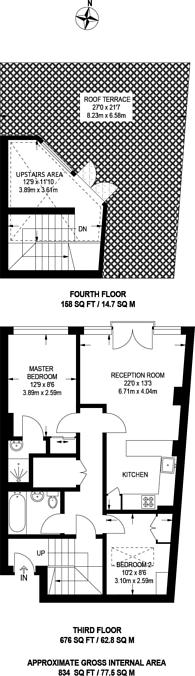 Large floorplan for Pear Tree Street, Clerkenwell, EC1V