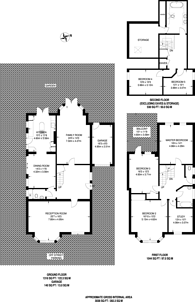 Large floorplan for Longton Avenue, Sydenham, SE26