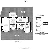 Large floorplan for Richmond Gardens, Harrow Weald, HA3