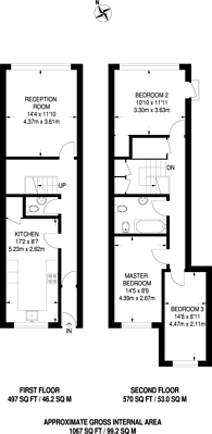 Large floorplan for Neasden Lane, Neasden, NW10