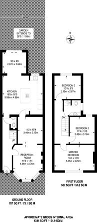 Large floorplan for Churchfield Avenue, North Finchley, N12