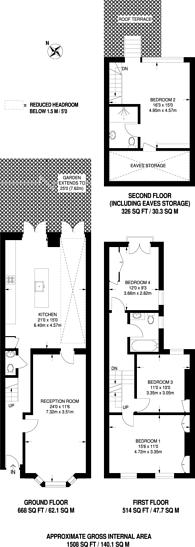 Large floorplan for Broughton Road, Sands End, SW6