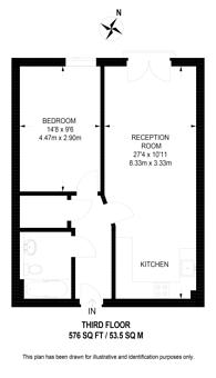 Large floorplan for Salamanca Place, Albert Embankment, SE1