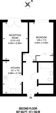 Large floorplan for Oak Square, Stockwell, SW9