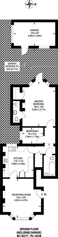Large floorplan for Salisbury Road, Harrow, HA1