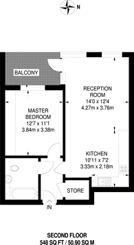 Large floorplan for Connolly House, Ealing, UB1