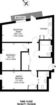 Large floorplan for 50% Share, Barry Blandford Way, Tower Hamlets, E3