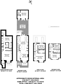 Large floorplan for Sulivan Road, Parsons Green, SW6