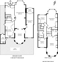 Large floorplan for Sudbury Court Drive, Harrow on the Hill, HA1