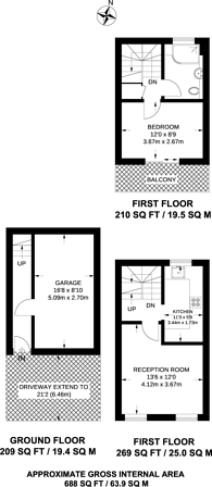 Large floorplan for Clarence Road, Manor Park, E12