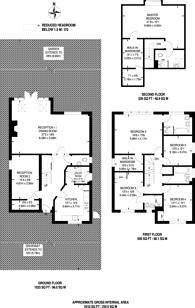 Large floorplan for Gloucester Road, New Barnet, EN5