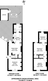 Large floorplan for Stanley Road, Croydon, CR0