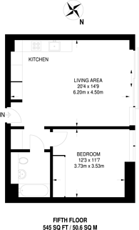 Large floorplan for Bolander Grove North, West Brompton, SW6