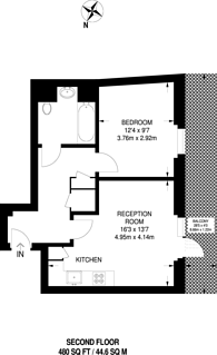 Large floorplan for Rosemont Road, Acton, W3