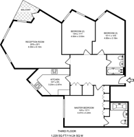 Large floorplan for Stevenage Road, Bishop's Park, SW6