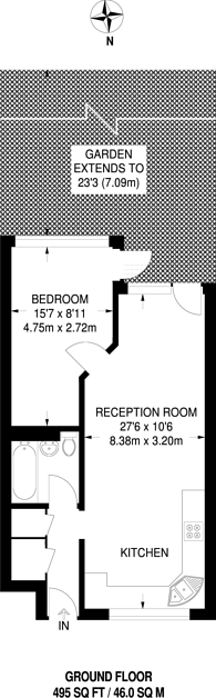 Large floorplan for Chandlers Way, Brockwell Park, SW2