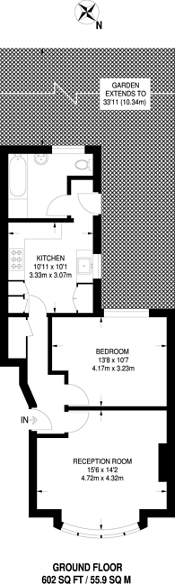 Large floorplan for Avenue Road, Beckenham, BR3