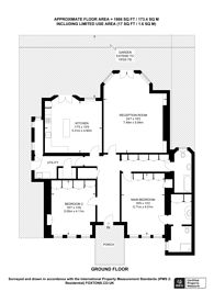 Large floorplan for Hamilton Terrace, St John's Wood, NW8