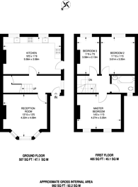 Large floorplan for Bensham Lane, Thornton Heath, CR7