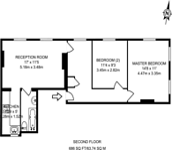 Large floorplan for Picton Place, Marylebone, W1U