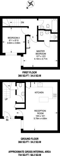 Large floorplan for Birkbeck Road, Beckenham, BR3