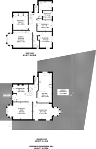 Large floorplan for Tracey Avenue, Gladstone Park, NW2