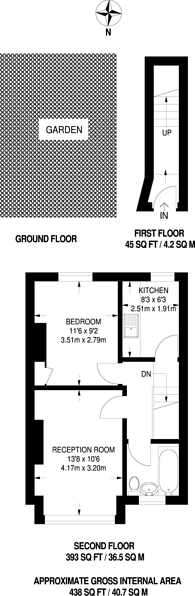 Large floorplan for Bruce Road, Harrow, HA3