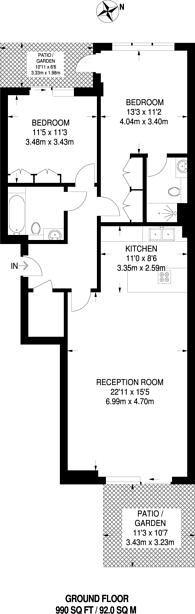 Large floorplan for Lensbury Avenue, Imperial Wharf, SW6