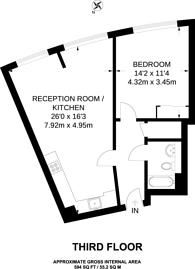 Large floorplan for Empire Square South, Borough, SE1