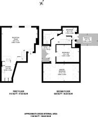 Large floorplan for Marlborough Road, Holloway, N19