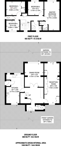 Large floorplan for Southway, Carshalton Beeches, SM5