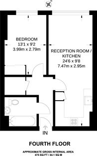 Large floorplan for Saffron Central Square, Croydon, CR0