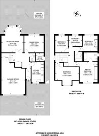 Large floorplan for Maxfield Close, Oakleigh Park, N20