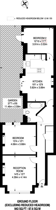 Large floorplan for Prince of Wales Drive, Battersea Park, SW11