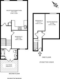 Large floorplan for Ongar Road, West Brompton, SW6