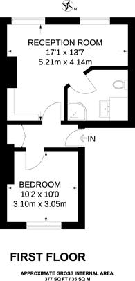 Large floorplan for Goswell Road, Clerkenwell, EC1V