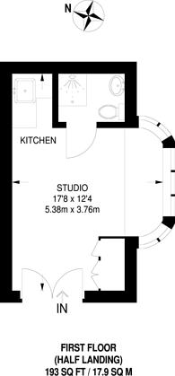 Large floorplan for St Georges Square, Pimlico, SW1V