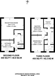 Large floorplan for Lisle Court, Cricklewood, NW2