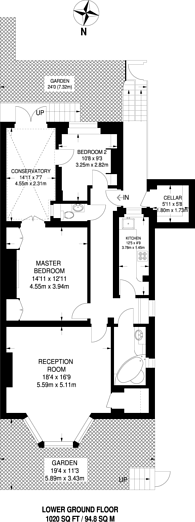 Large floorplan for Cathcart Road, Chelsea, SW10