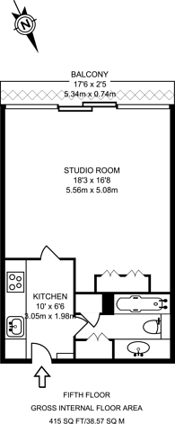 Large floorplan for Bryer Court, Barbican, EC2Y