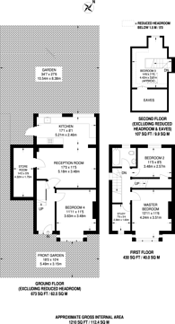 Large floorplan for Hill Road, Mitcham, CR4