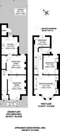 Large floorplan for Brudenell Road, Tooting Bec, SW17
