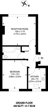 Large floorplan for Twickenham, Twickenham, TW1