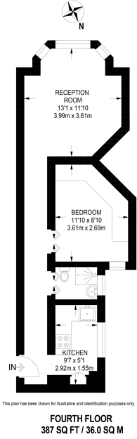 Large floorplan for Kingsway Mansions, Holborn, WC1R