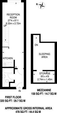 Large floorplan for Bow Quarter, Bow, E3