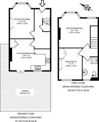 Large floorplan for Edna Road, Raynes Park, SW20