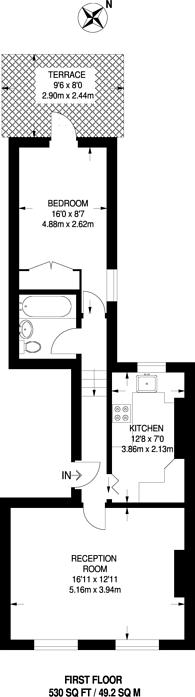 Large floorplan for Tremlett Grove, Dartmouth Park, N19
