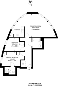 Large floorplan for Stratford Eye, Stratford, E15