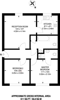 Large floorplan for Otter Close, Stratford, E15