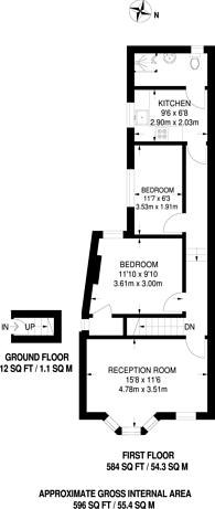 Large floorplan for Green Street, Forest Gate, E7